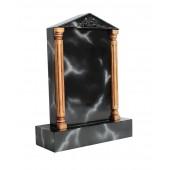 Grabstein mit schwarzem Marmoreffekt 10