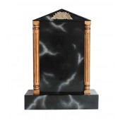 Grabstein mit schwarzem Marmoreffekt 11
