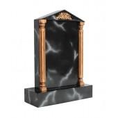 Grabstein mit schwarzem Marmoreffekt 12