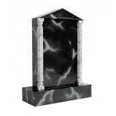 Grabstein mit schwarzem Marmoreffekt 13