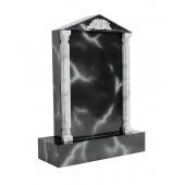 Grabstein mit schwarzem Marmoreffekt 15
