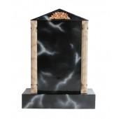 Grabstein mit schwarzem Marmoreffekt 23