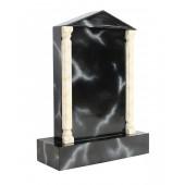 Grabstein mit schwarzem Marmoreffekt 25