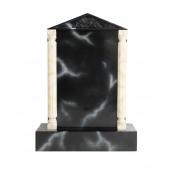 Grabstein mit schwarzem Marmoreffekt 26