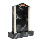 Grabstein mit schwarzem Marmoreffekt 27
