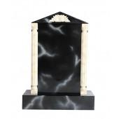 Grabstein mit schwarzem Marmoreffekt 30