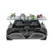 Wandregal Batmobil Schwarz mit Glassplatte