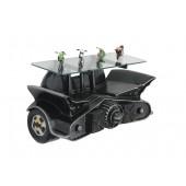 Wandregal Batmobil mit Flügeln Schwarz mit Glasplatte