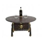 Piraten Schatztruhe mit Pistolen Tisch mit Holzplatte