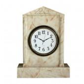 Uhr in Säule mit Marmoreffekt