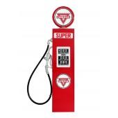 Retro Tankstelle Rot als Wanddeko groß