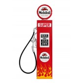 Ami Tankstelle Rot mit Flammen als Wanddeko groß