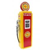 Retro Tankstelle Gelb Rot als Schrank groß