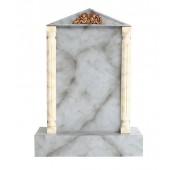 Grabstein mit grauem Marmoreffekt 10