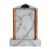 Grabstein mit grauem Marmoreffekt 21