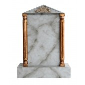 Grabstein mit grauem Marmoreffekt 24