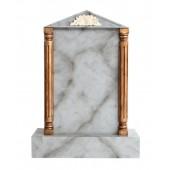 Grabstein mit grauem Marmoreffekt 25