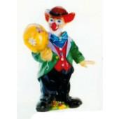 lustiger kleiner Clown mit Ballon