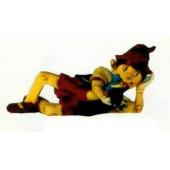 Pinocchio liegend mit Jiminy