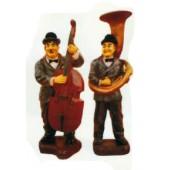 Dick und Doof klein mit Cello und Sausaphone