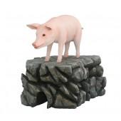 Schwein rosa stehend