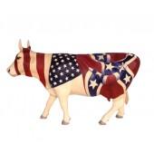 Kuh Amerikaflaggen