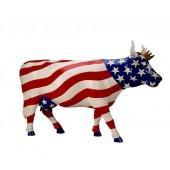 Kuh Amerika mit Krone