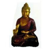 Buddha gold mit rotem Umhang