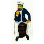 Seemann sitzend auf Fass Variante 1