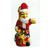 kleiner Weihnachtsmann mit Sack voller Spielzeug