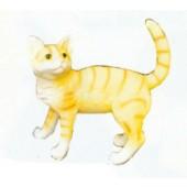 hell gestreifte Katze