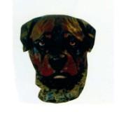 dunkelbrauner Hundekopf