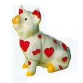 kleines Schweinchen mit Herzchenbemalung