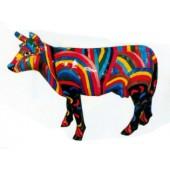 kleine Kuh farbig gestreift