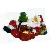 Weihnachtsmann schlafend als Tannenbaumständer