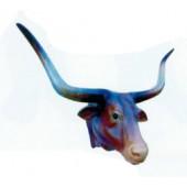 Langhornbullenkopf braun