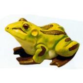großer sitzender grüner Frosch