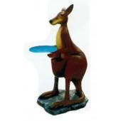großes Känguru mit Tablett