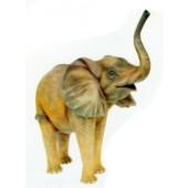laufender Elefant klein Rüssel oben