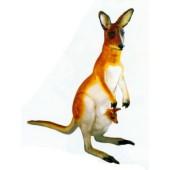 Känguru mit Baby in der Tasche