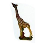 kleine Giraffe Kopf oben fressend