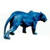 schwarzer Panther laufend