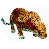 Leopard lebensgroß kriechend Kopf unten