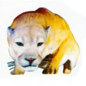 kriechende lebensgroße Löwin
