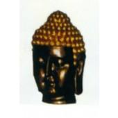 braun goldener Buddhakopf groß