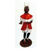 kleines dunkelhäutiges Mädchen im roten Kleid