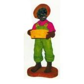 lustiger kleiner Afro mit Korb