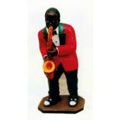 dunkelhäutiger Saxophonist Jazz mittel