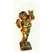 goldener Engel mit Fackellampe