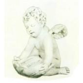antiker Engel sitzend